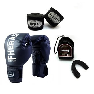 Kit Boxe Muay Thai Fheras New Trade  Luva + Bandagem Trade