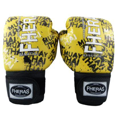 Kit Boxe Muay Thai Fheras Top - Luva Bandagem Bucal Caneleira Shorts