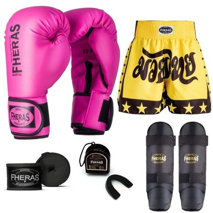 Kit Boxe Muay Thai Fheras Tradicional (01000263)