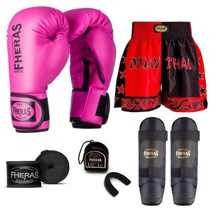 Kit Boxe Muay Thai Fheras Tradicional (01000348)