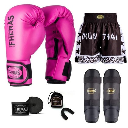 Kit Boxe Muay Thai Fheras Tradicional (01000388)