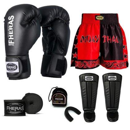 Kit Boxe Muay Thai Fheras Tradicional (01000455)