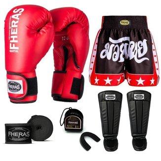 Kit Boxe Muay Thai Fheras Tradicional (01000624)