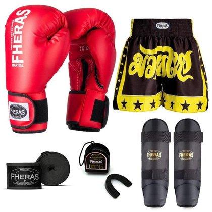 Kit Boxe Muay Thai Fheras Tradicional (01000686)