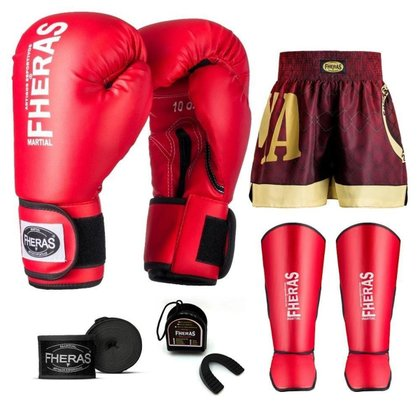 Kit Boxe Muay Thai Fheras Tradicional (01000828)