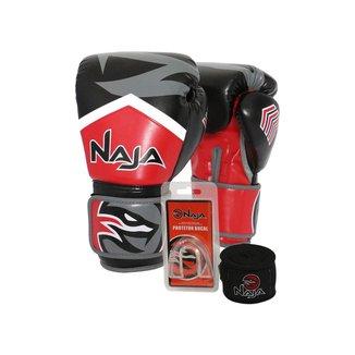Kit Boxe Muay Thai - Luva New Extreme + Bandagem
