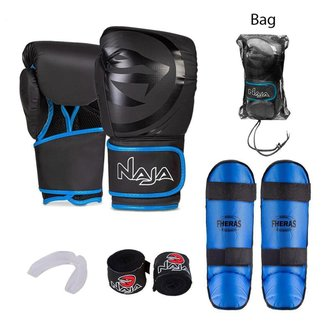 Kit Boxe Muay Thai Naja Azul + Free Style Azul