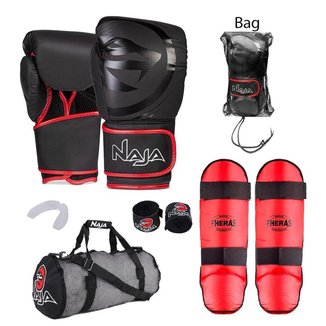 Kit Boxe Muay Thai Naja + Bolsa Telada + Free Style Colors