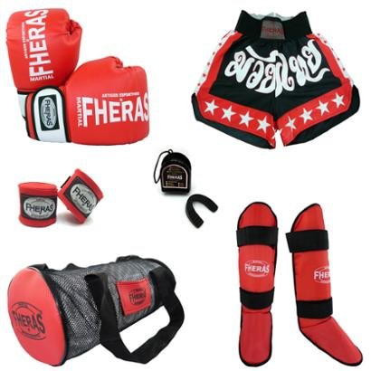 Kit Boxe Muay Thai Orion + Caneleira + Bolsa + Shorts