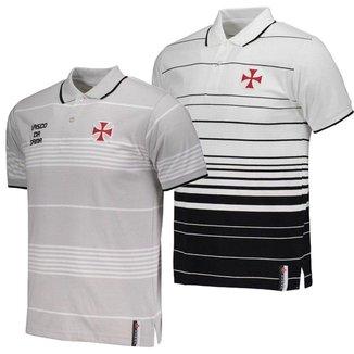 Kit C/ 2 Camisas Polo Infantis Vasco da Gama Fio Tinto