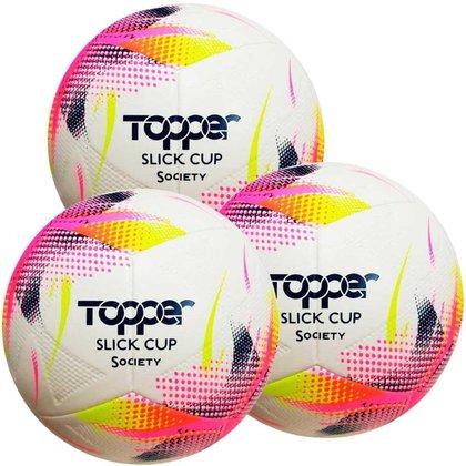 Kit C/ 3 Bolas Topper Slick Cup Society Tecnofusion