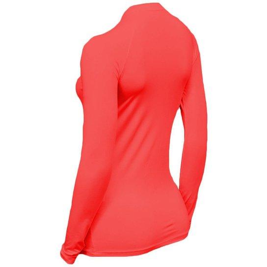 Kit C/ 3 Camisas Feminino Stigli Pro Proteção Solar FPU 50 Manga Longa Luna Poliamida B - Cinza+Vermelho