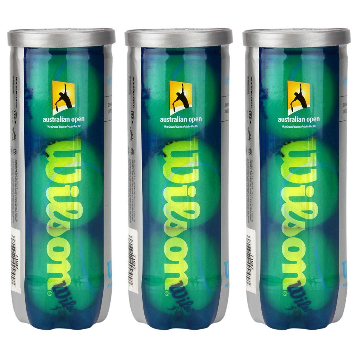708b92f8f Kit c  3 Tubos de Bolas de Tennis Wilson Australian Open - Compre Agora
