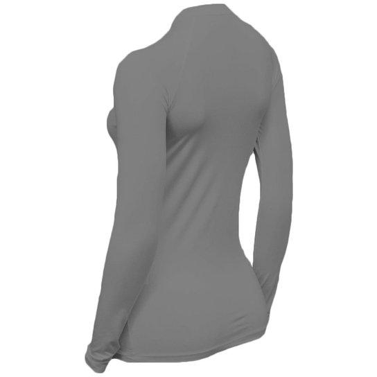 Kit C/ 4 Camisas Feminino Stigli Pro Proteção Solar FPU 50 Manga Longa Luna Poliamida N - Cinza+Azul