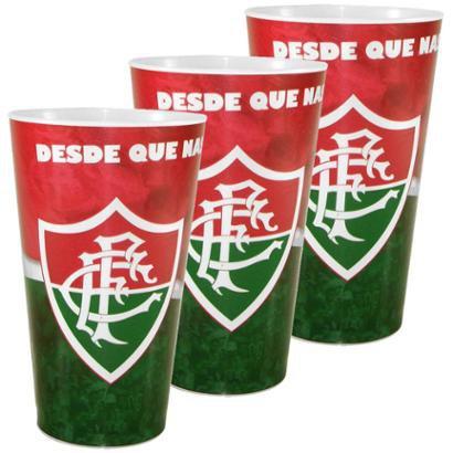 Kit c/3 Copos Plásticos do Fluminense 550 ml - Unissex
