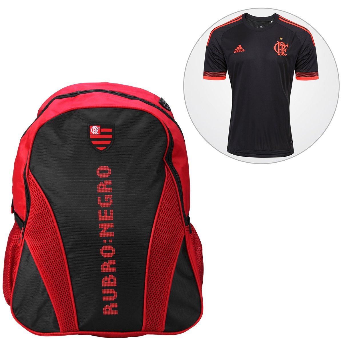 Kit Camisa Adidas Flamengo III 2016 s nº + Mochila Flamengo - Compre Agora   4a7cc62566a04