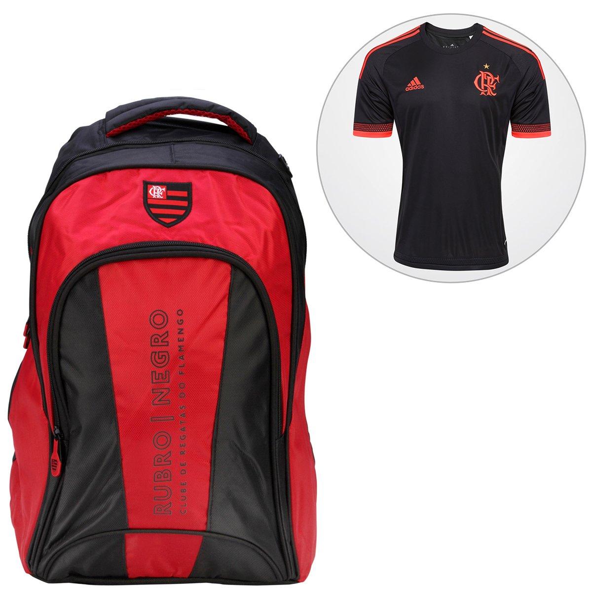 Kit Camisa Adidas Flamengo III 2016 s nº + Mochila Flamengo - Compre Agora   b2e48ae543c4e