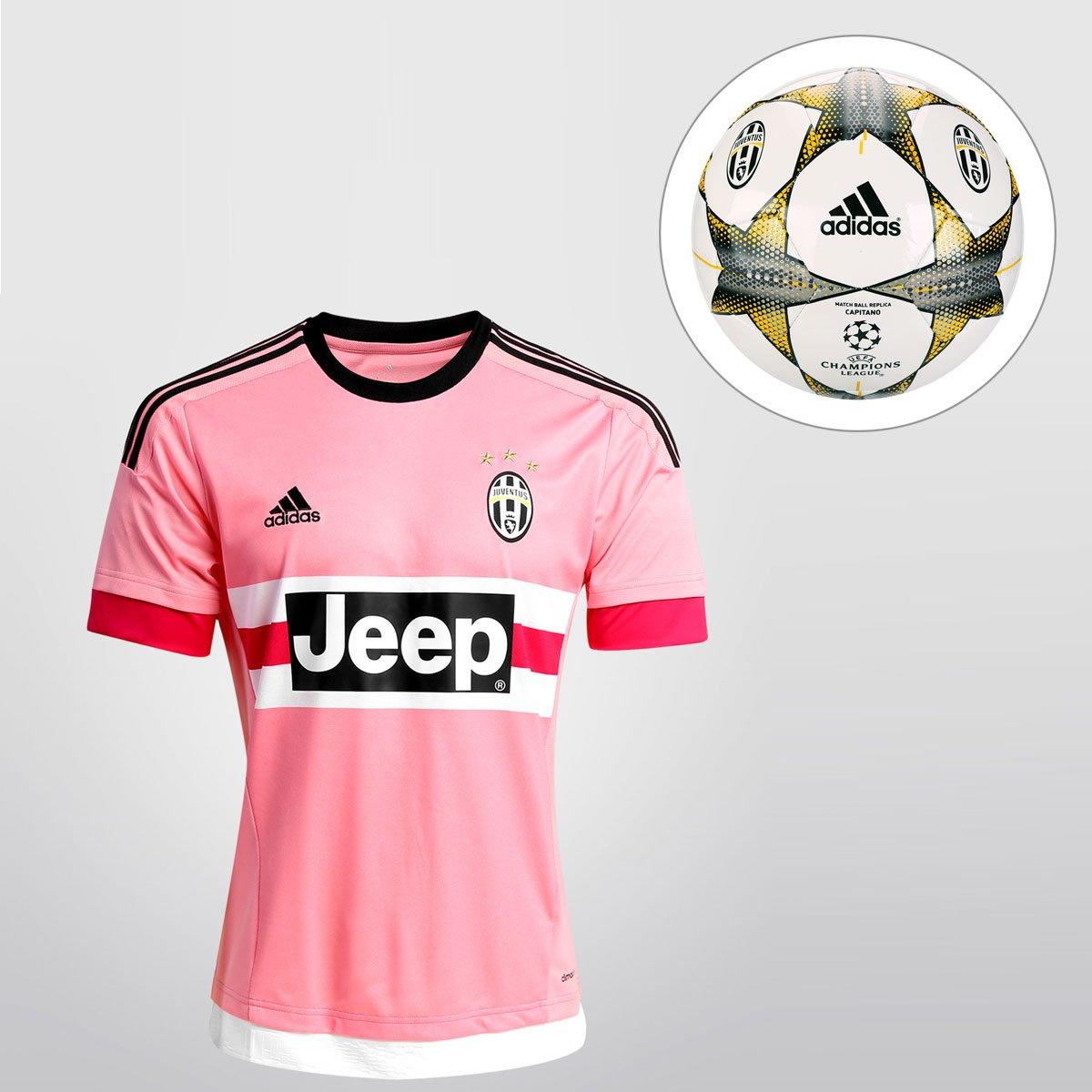Kit Camisa Adidas Juventus Away 15 16 s nº + Bola Adidas Juventus Finale 15  Campo - Compre Agora  8dfed5da75136