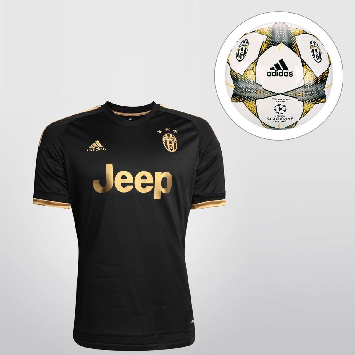 2312c72949148 Kit Camisa Adidas Juventus Third 15 16 s nº + Bola Adidas Juventus Finale 15  Campo - Compre Agora