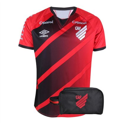 Kit Camisa Athletico Paranaense 2021 Home Umbro + Necessaire Oficial