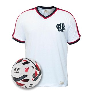 Kit Camisa Athletico Paranaense Retrô 1988 + Bola Oficial