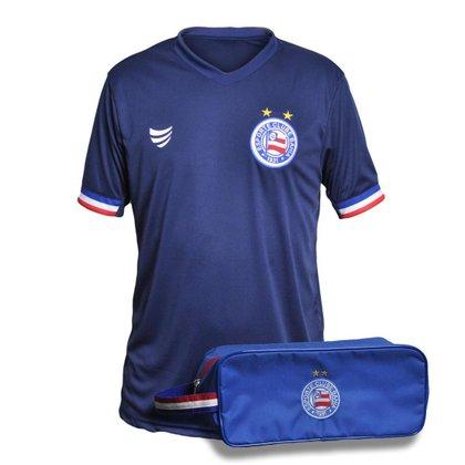 Kit Camisa Bahia 2021 Supporter Goal + Necessaire Oficial