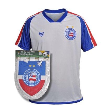 Kit Camisa Bahia 2021 Supporter Soccer + Flamula Oficial