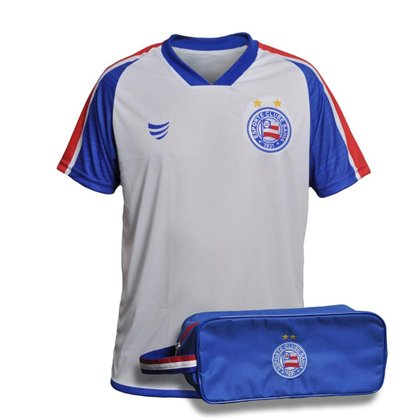Kit Camisa Bahia 2021 Supporter Soccer + Necessaire Oficial