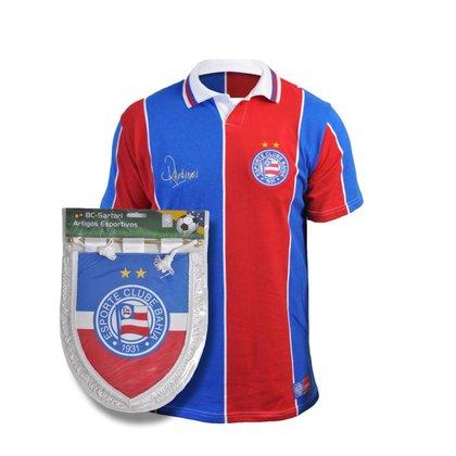 Kit Camisa Bahia Retrô 1994 Raudinei + Flamula Oficial
