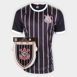 Kit Camisa Corinthians Casual Anos 80 + FlamulaOficial