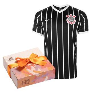 Kit Camisa Corinthians II 20/21 s/n° Torcedor Nike Masculina + Caixa de Bombom c/ 9 unidades