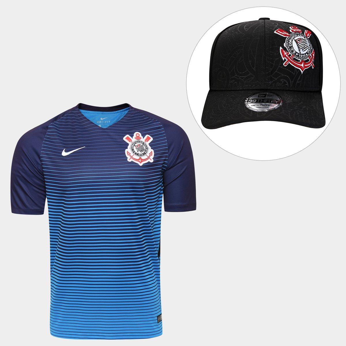 Kit Camisa Nike Corinthians III 2016 s nº - Torcedor + Boné New Era  Corinthians 3930 - Compre Agora  5c2ffefbae30a