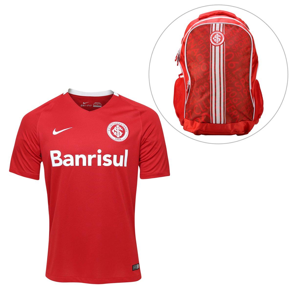 5e1d5847a0c19 Kit Camisa Nike Internacional I 2016 s/nº + Mochila Internacional | Netshoes