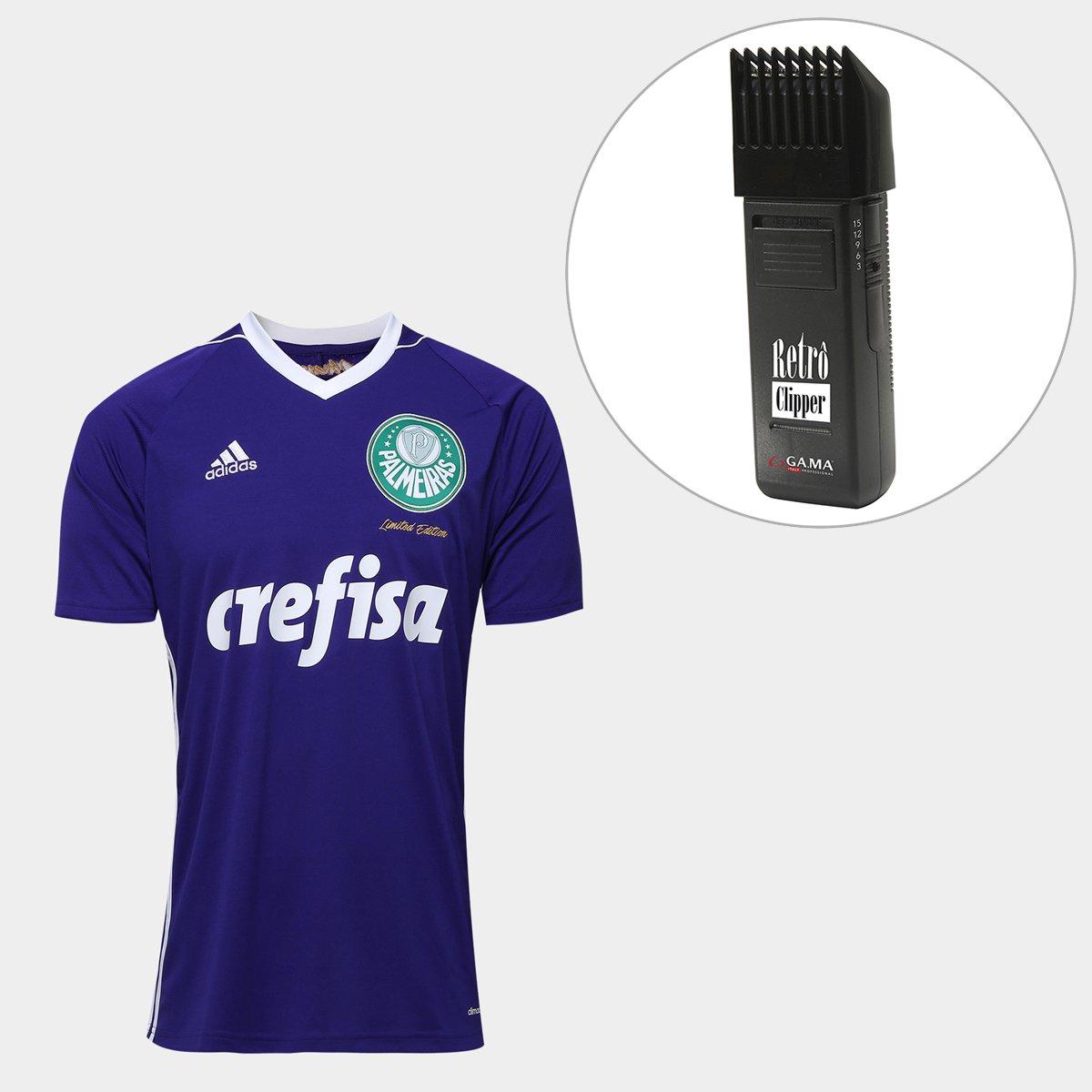 3858b621ad6be Kit Camisa Palmeiras Goleiro Obsessão Torcedor Adidas Masculina + Maquina  Retrô Gama Italy Bivolt - Compre Agora   Netshoes