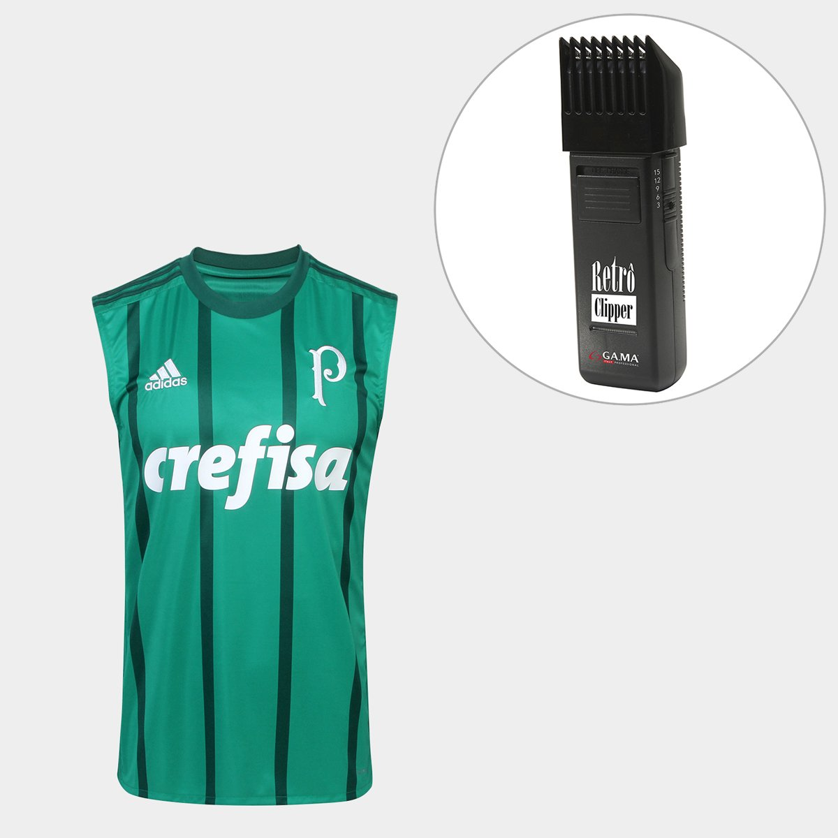 Kit Camisa Regata Palmeiras I 17 18 s nº Torcedor Adidas Masculina +  Maquina Retrô Gama Italy Bivolt - Compre Agora  e24afd5383908