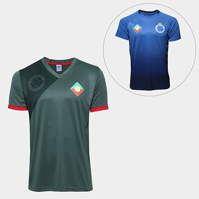 8e8cb9b17a Kit Camisa Retrô Cruzeiro Palestra Itália + Camisa Retrô Cruzeiro s nº  Masculina - Masculino