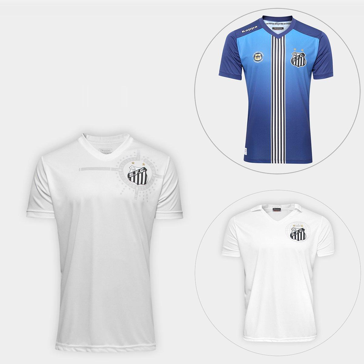 Kit Camisa Santos América 2011 + Camisa Santos 2010 + Camisa III 16 -  Compre Agora  a83f6b274ed49