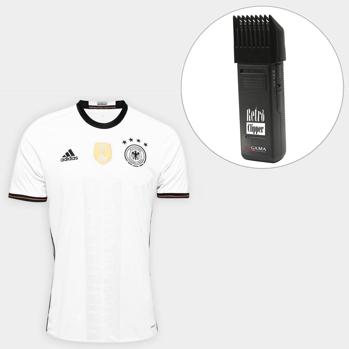 f91e3e5f31 Kit Camisa Seleção Alemanha Home 2016 s nº Torcedor Adidas  Masculina+Maquina Retrô Gama Italy Bivolt - Compre Agora