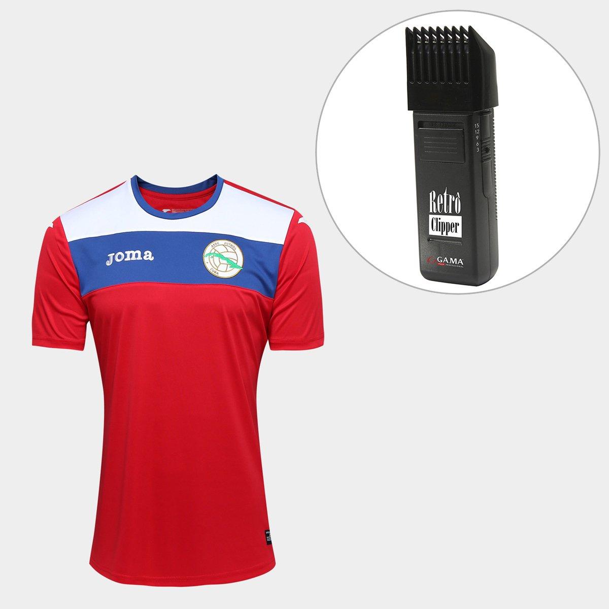 Kit Camisa Seleção Cuba Away 2017 s nº Torcedor Joma Masculina + Maquina  Retrô Gama Italy Bivolt - Compre Agora  fd8e11f312c54