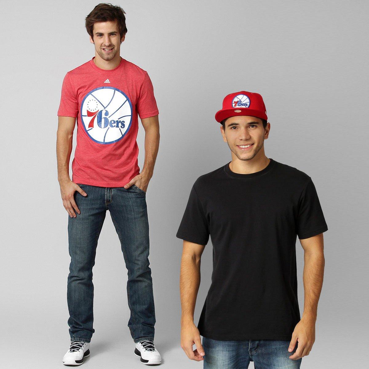 67b5a9c90 Kit - Camiseta Adidas Classics - Philadelphia 76ERS + Boné New Era NBA 5950  Philadelphia 76ERS - Compre Agora