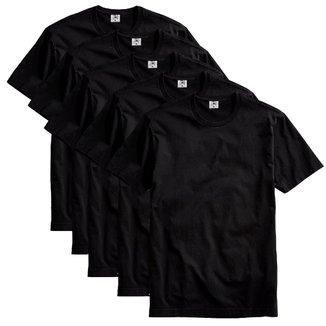 Kit  Camiseta Básica Algodão Premium 5 peças Masculino