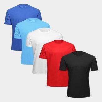 Kit Camiseta Básica Tribo Santa C/ 5 Peças Masculina