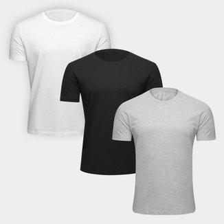 Kit Camiseta Básicos 3 Peças Masculino