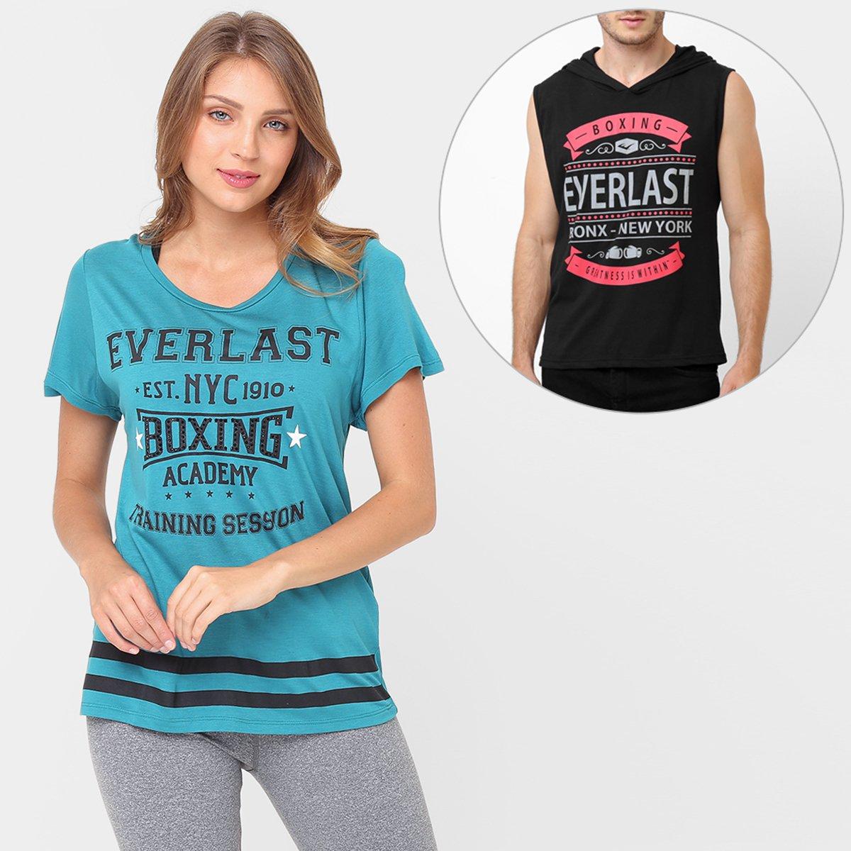Kit Camiseta Everlast + Camiseta Regata Everlast c  Capuz - Compre Agora  ed4113e7ff9