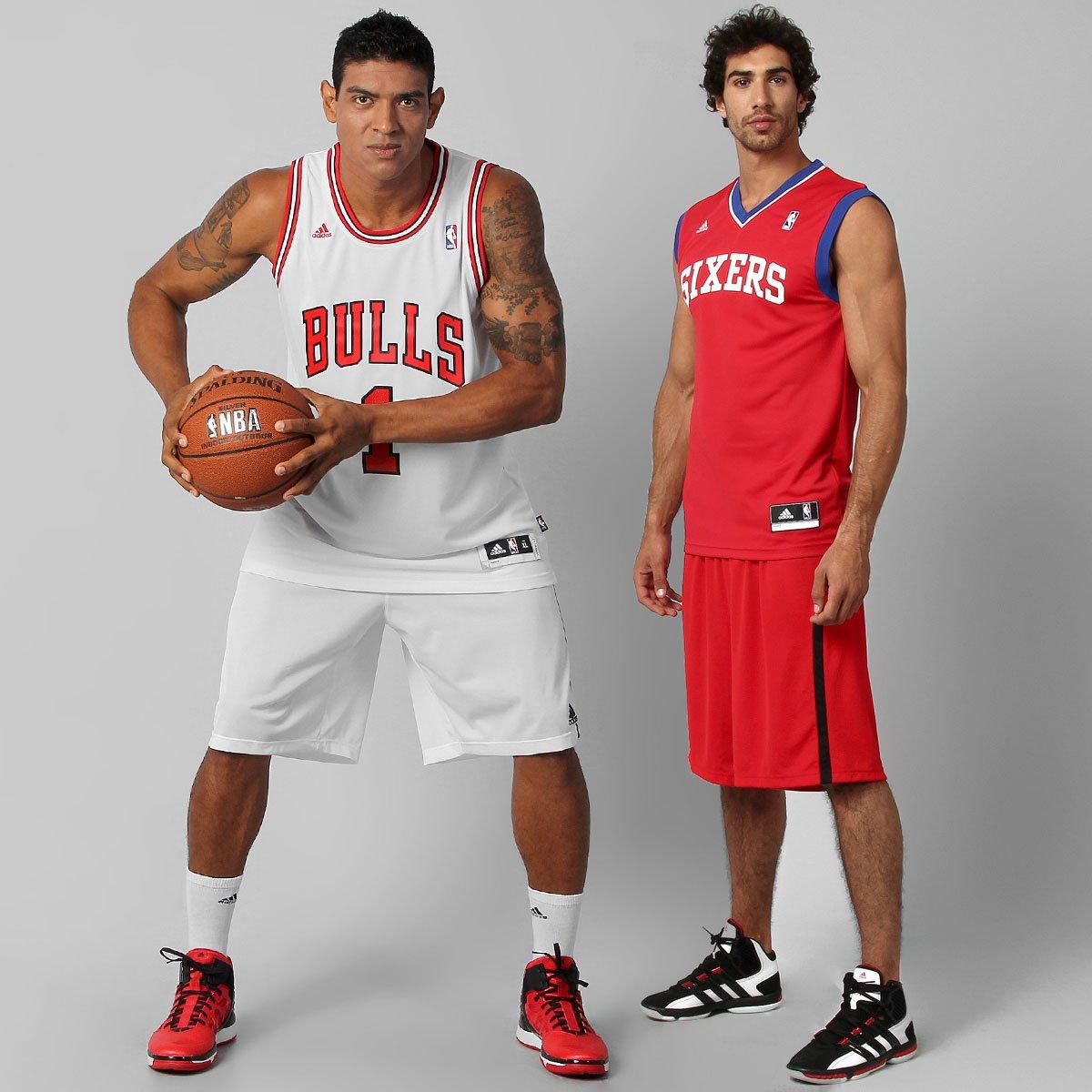 1e045f042 Kit Camiseta Regata Adidas NBA - Chicago Bulls + Philadelphia 76Ers - Compre  Agora