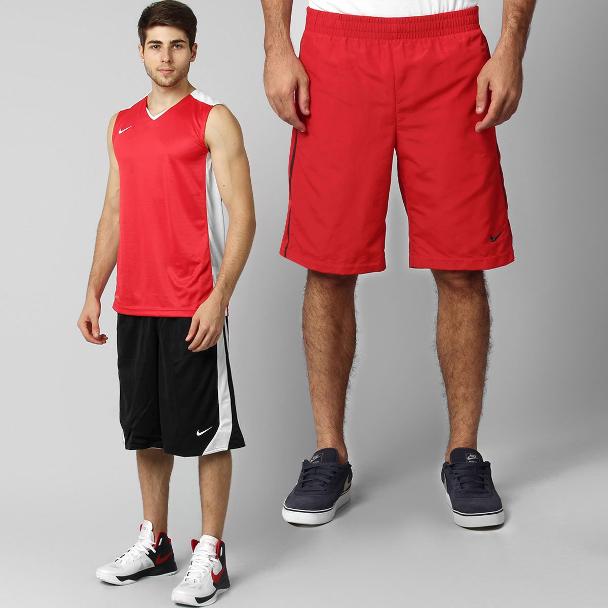41ec1cc623 Kit - Camiseta Regata Nike Post Up + Bermuda Nike Básica AD - Compre Agora
