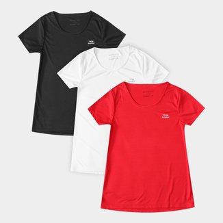 Kit Camisetas Rainha Classic Training III c/ 3 Peças Feminino