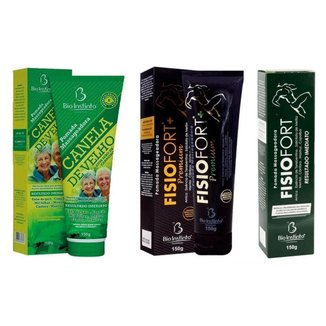 Kit Canela de Velho + FisioFort + FisioFort Premium (3x 150gr) - Bio Instinto