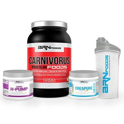 Kit Carnivorus 900g + Creapure 200g + H-Pump 250g + Coqueteleira – BRNfoods