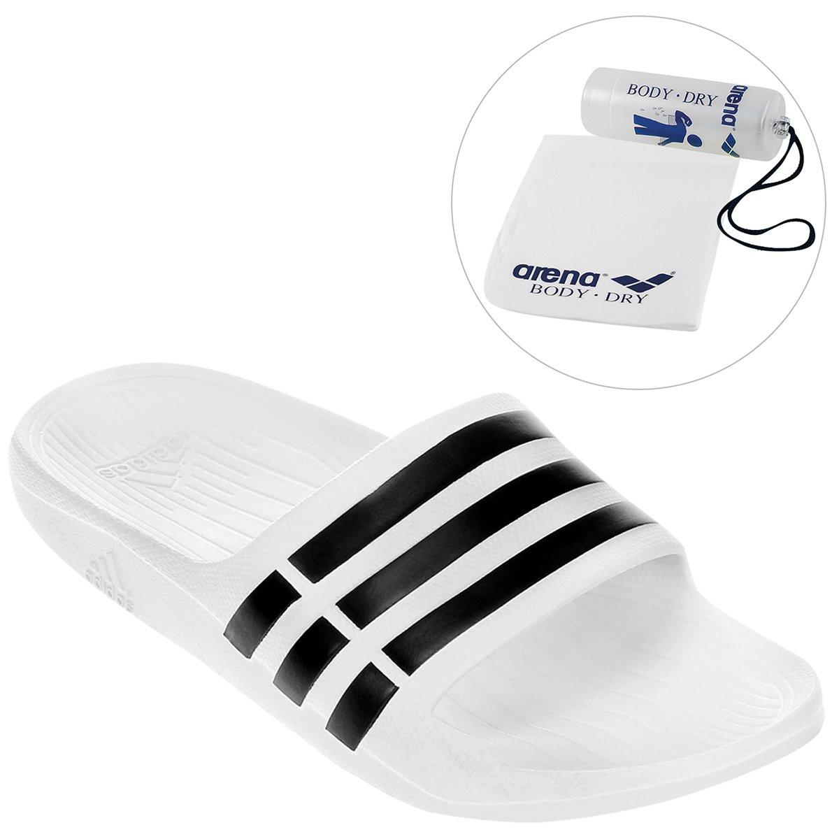 6022b49890 Kit Chinelo Adidas Duramo Slide + Toalha Arena Body - Compre Agora ...